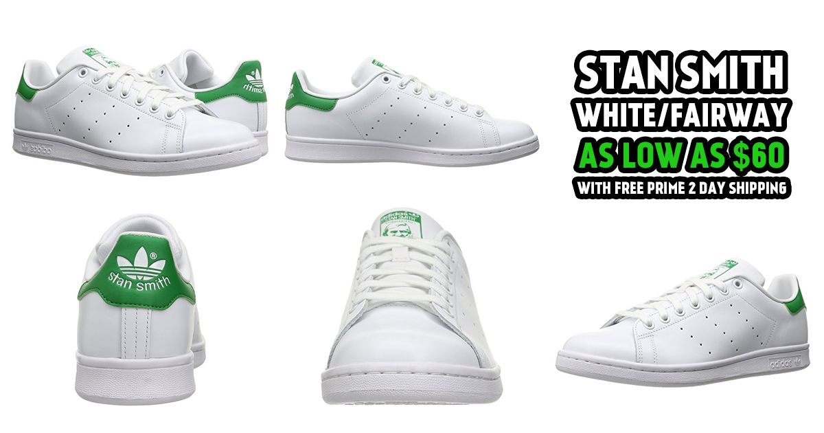 Adidas Stan Smith White Fairway As Low As $60 at Amazon (Free 2 Day Shipping