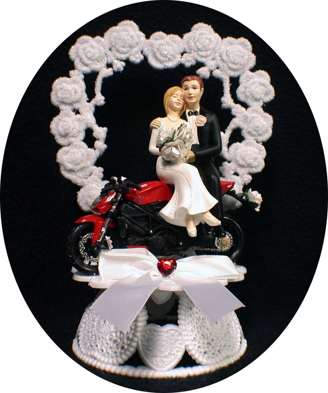 DUCATI Wedding Cake Topper Motorcycle Crouch Rocket Red Racing