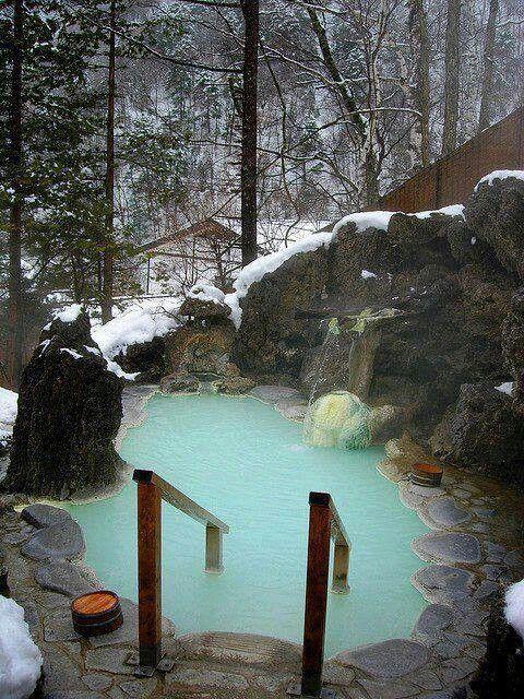 Hot springs in Northern Japan