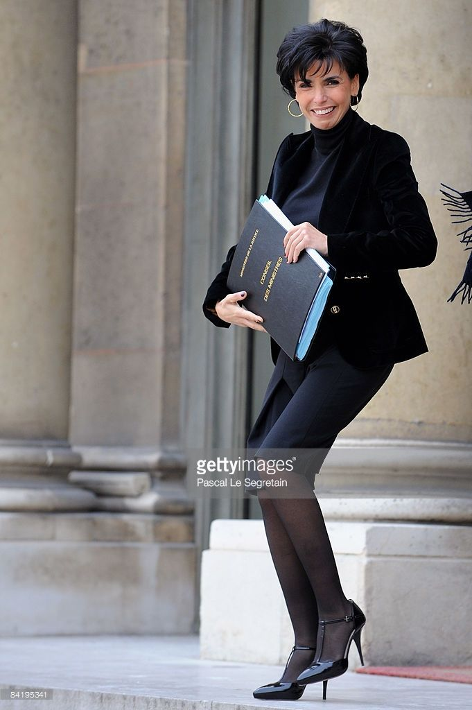 Keeper of the Seals and Minister of Justice, Rachida Dati leaves the first Weekly French Cabinet Meeting of the Year in Elysee Palace on January 7, 2009 in Paris, France.
