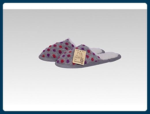 Cats Collection Pantoffel Wolle Noppen silber 38/39 oaw4Hm9