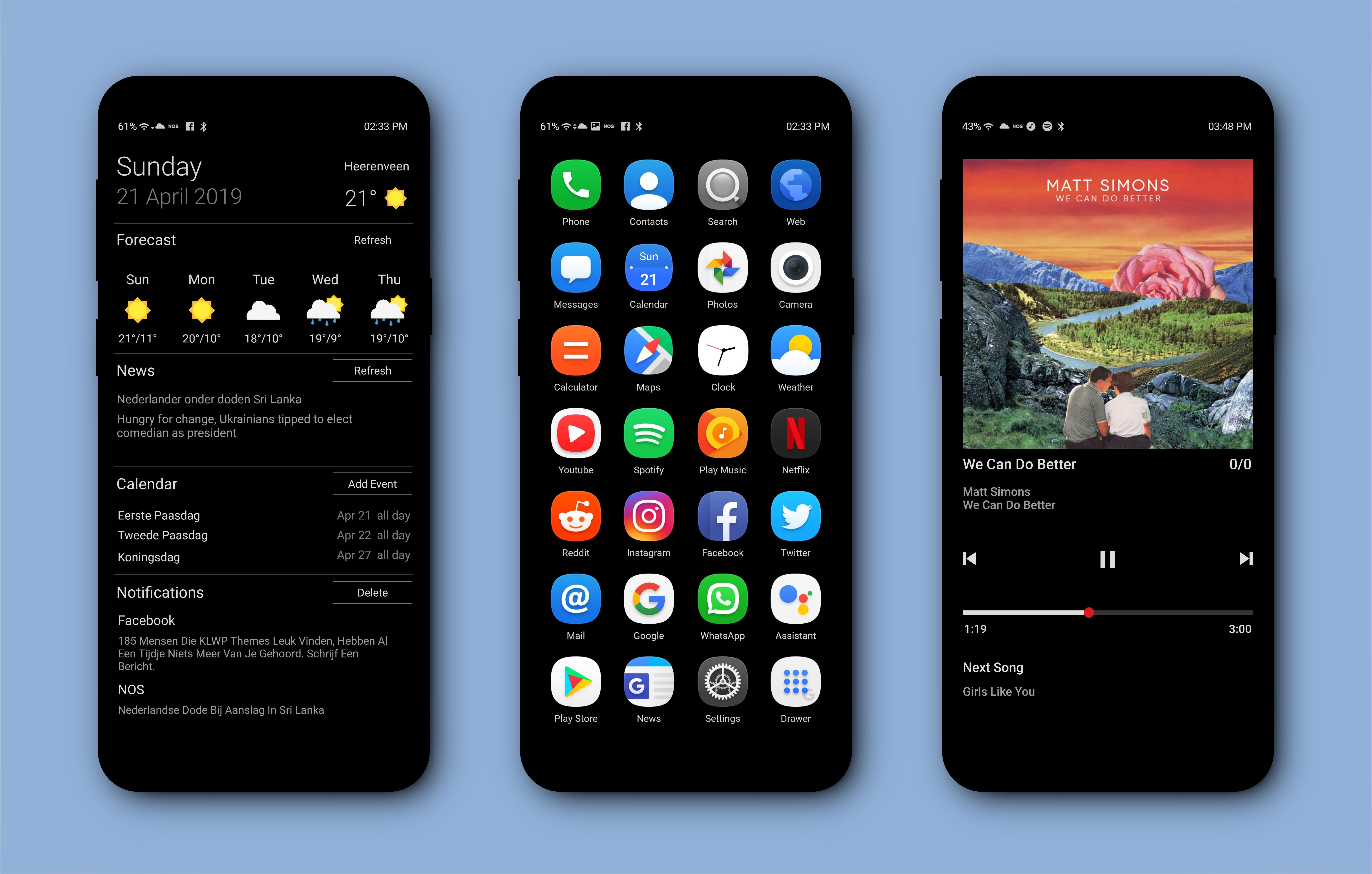 KLWP Theme Homescreen, Android wallpaper, Advertising