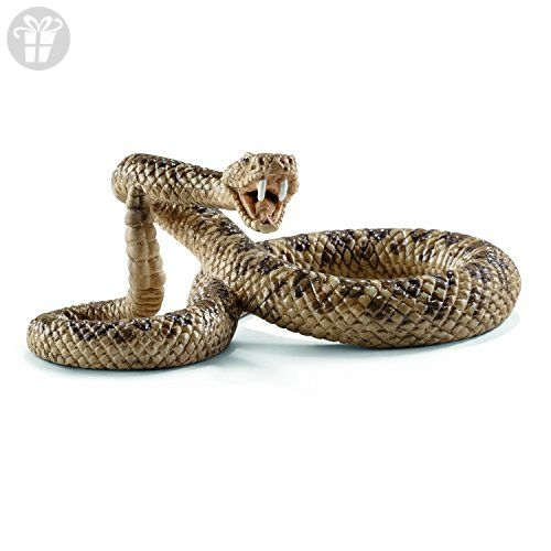 Realistic Beautifully Detailed Hand Painted Rattlesnake Snake Plastic PVC Figure