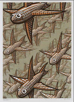 Depth by M.C. Escher, wikipedia.org #Fish #Depth #M_C_Escher #wikipedia
