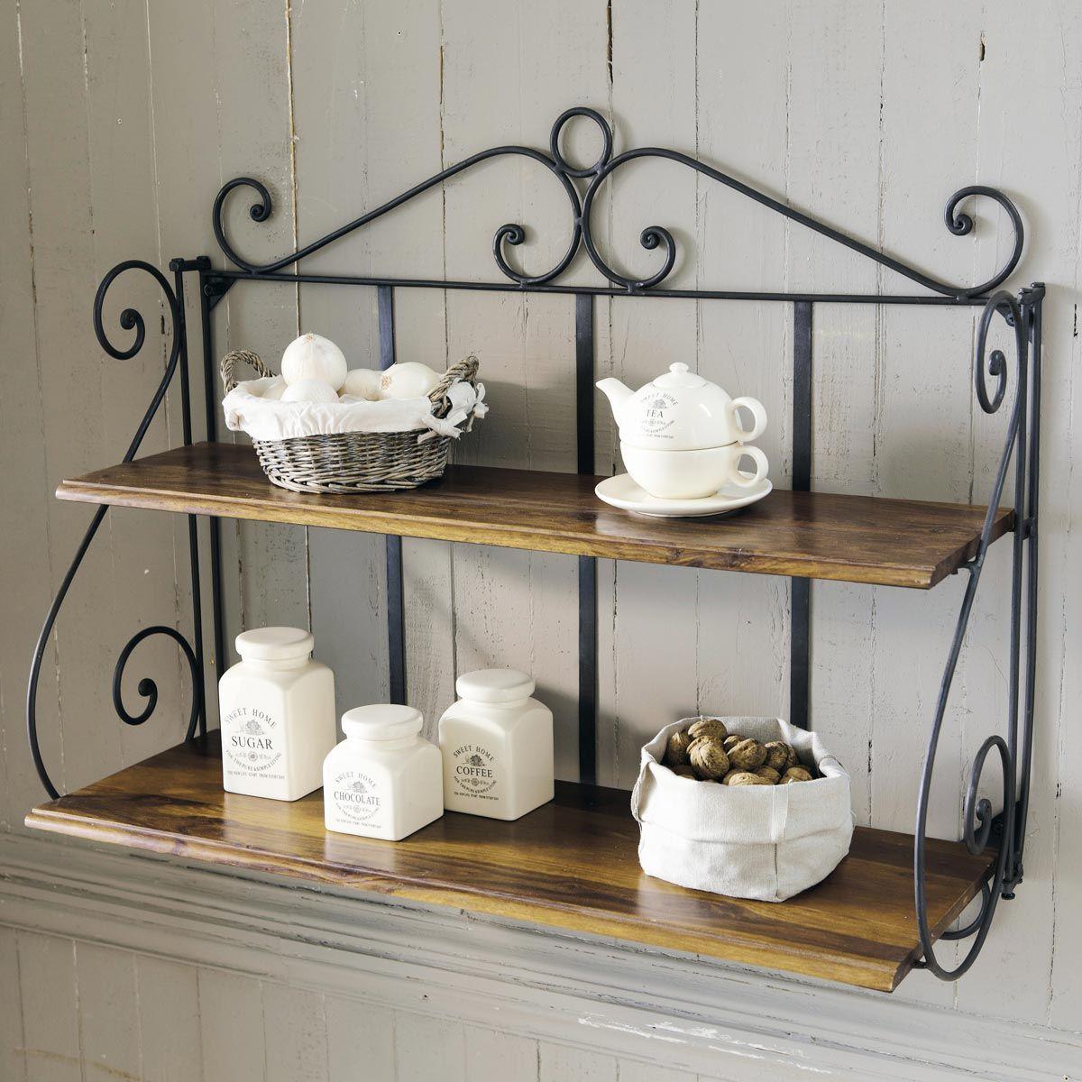 wrought iron bathroom shelf. Wrought Iron Wall Shelf Unit W 100cm LUBÉRON Bathroom S