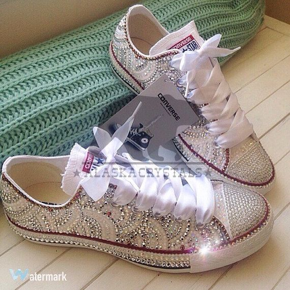 44333709785f Luxury Converse   wedding converse   crystal by alaskacrystals ...