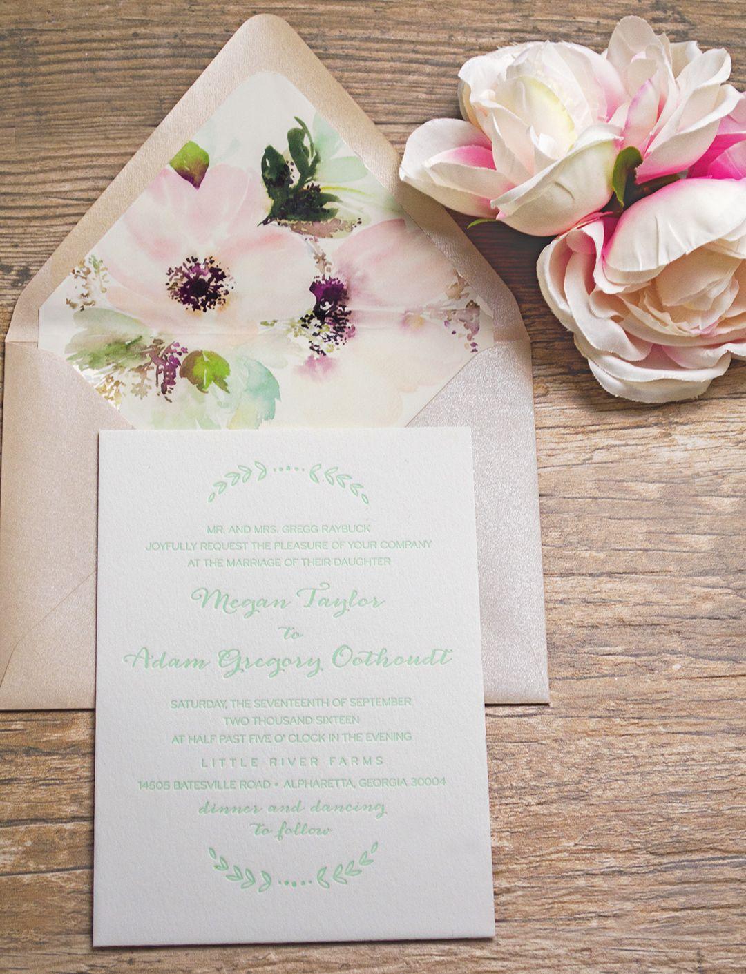 Earthy, Botanical Letterpress-Wedding Invitations - A&P Designs ...
