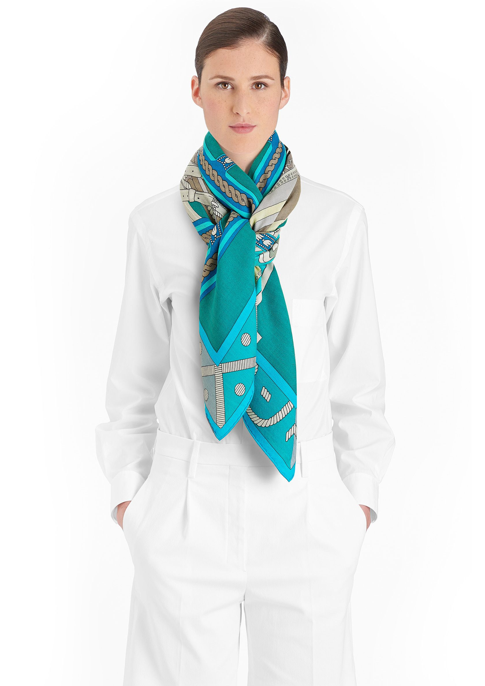 Cashmere Silk Scarf - Black and white cascade by VIDA VIDA M0HqL1bTh