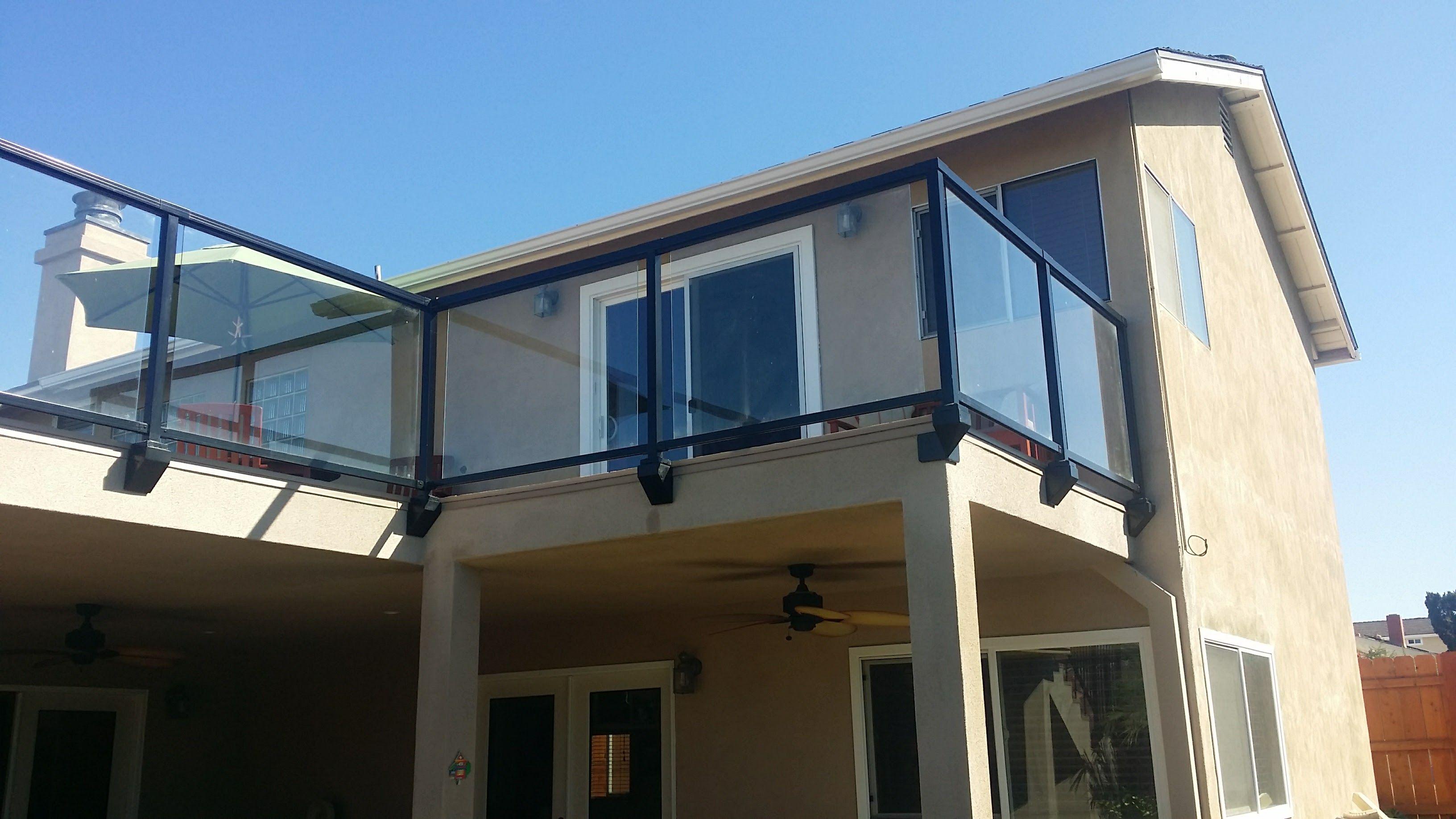 Facia Deck Railing Glass | Deck railings, Home depot ...