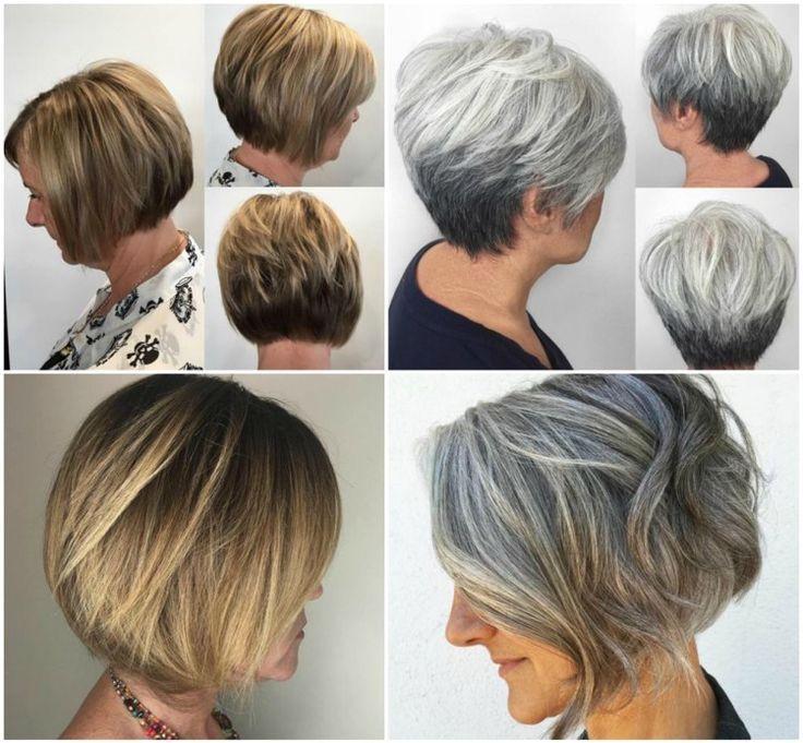 Freche Damen Frisuren Ab 60 - graue kurze Haare | Modische ...