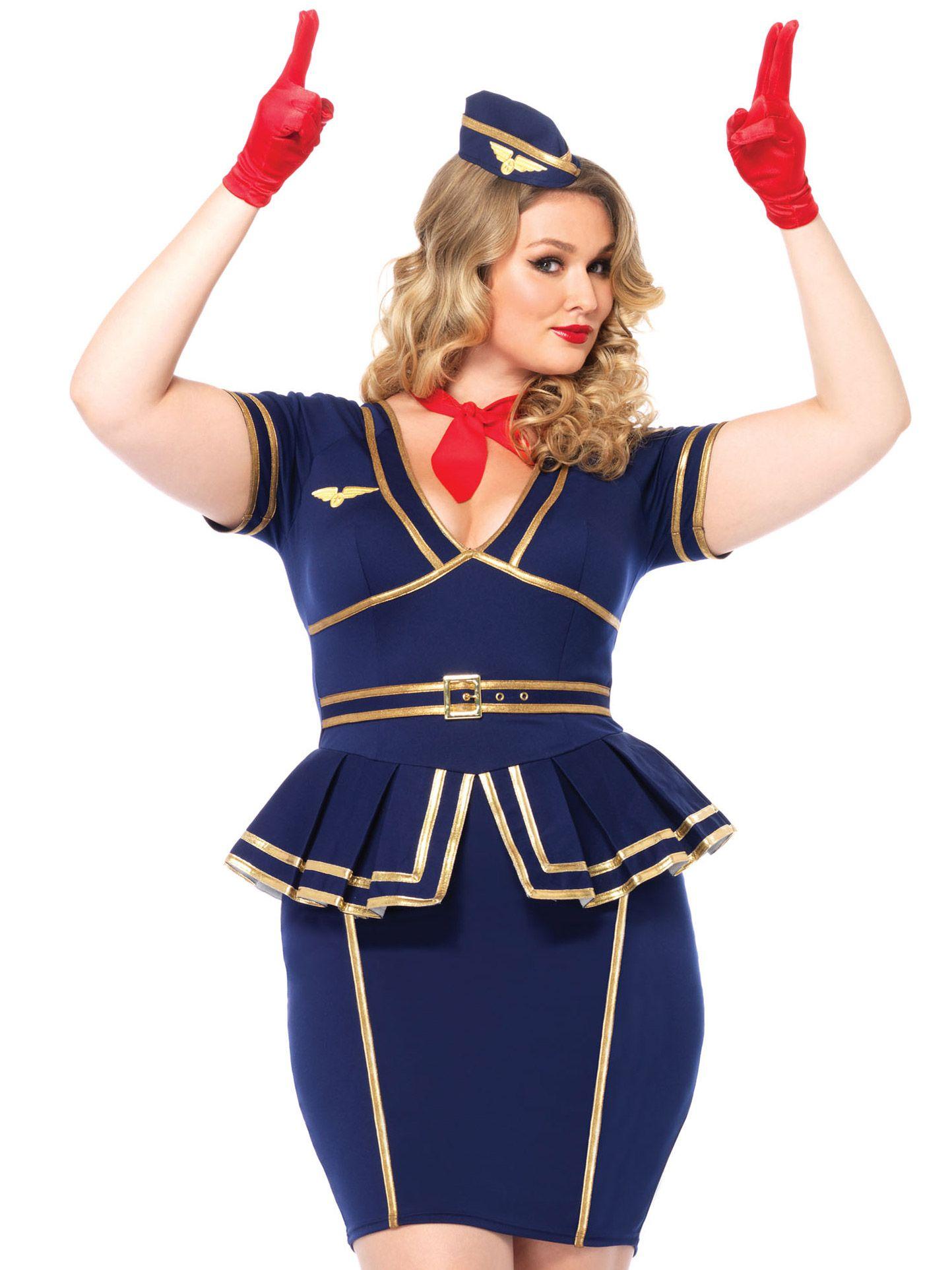Deguisement Hotesse De L Air Femme Grande Taille Retro En 2019