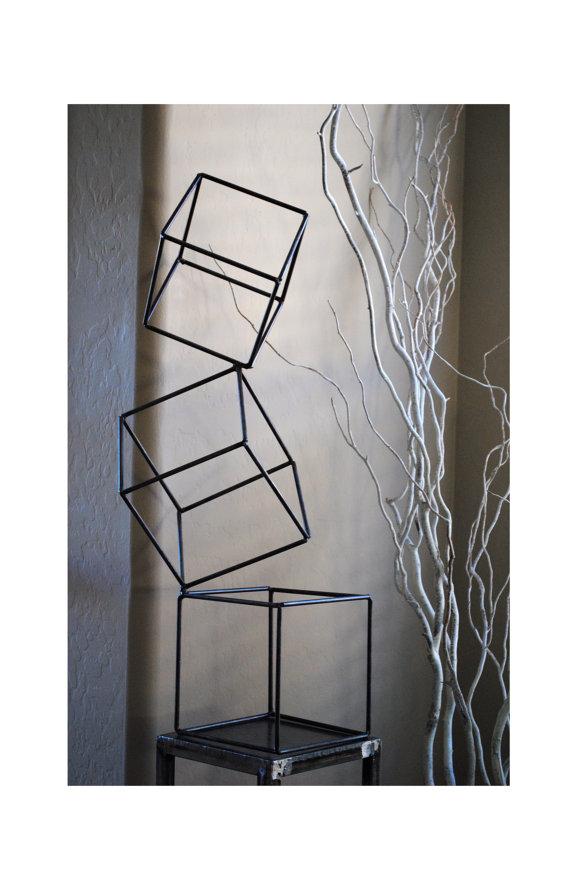 Metal Abstract Art Sculpture Modern Retro Simple Table Decor ...