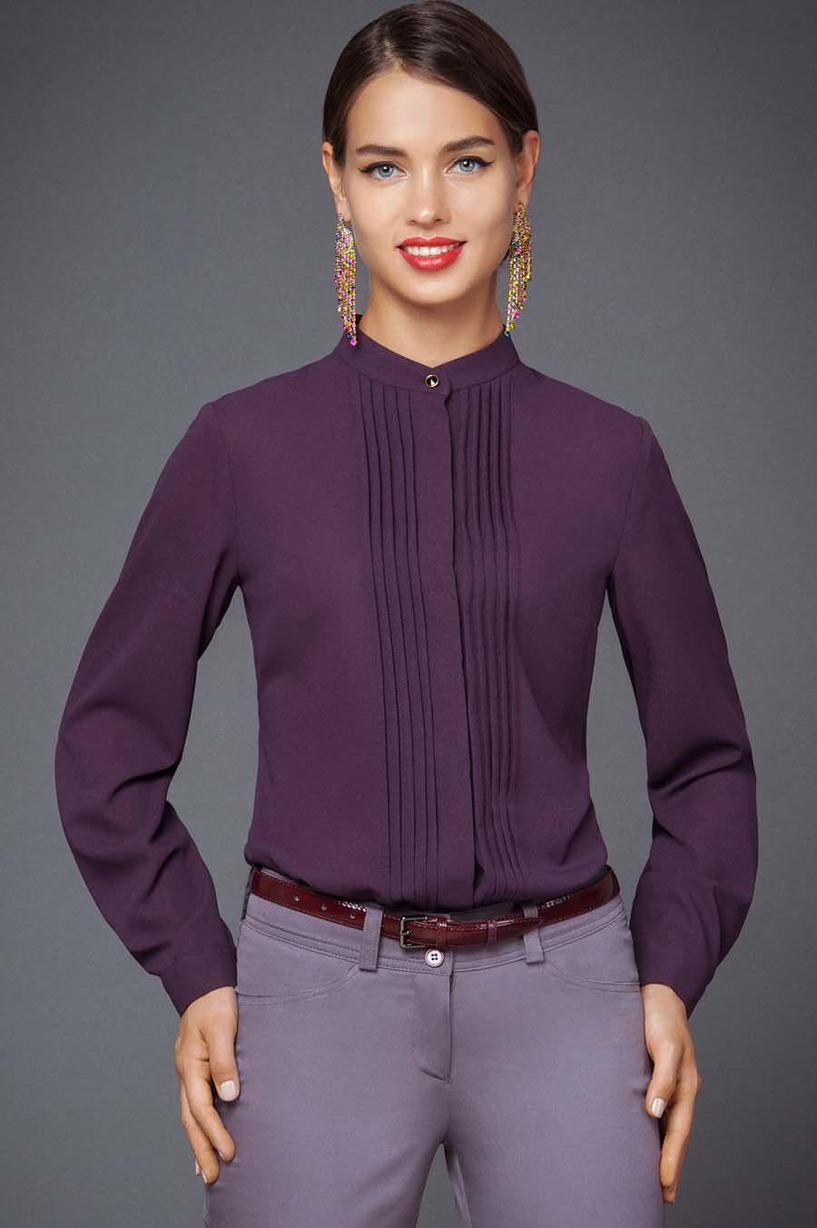 3030b885180 Р-1242-418 Блуза Леди Леди Изящная блуза классического стиля - одна ...