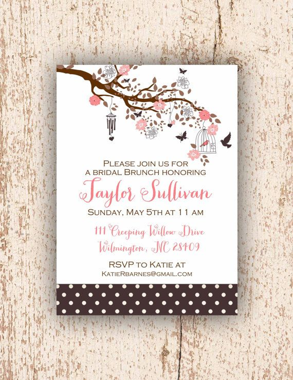 Blissful Brunch Invitation bridal brunch baby shower by PetitPapel