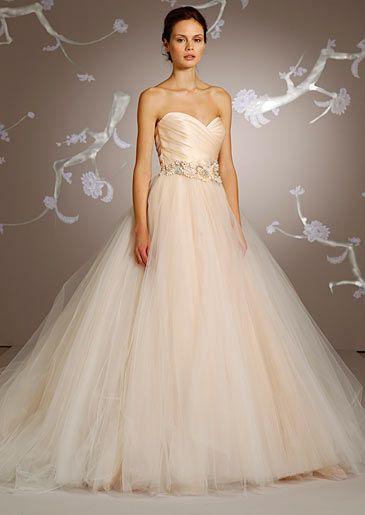 Lazaro S Gown No 3108 With Sweetheart Neckline Jeweled Flower Belt Priced At 3 630 Lazaro Wedding Dress Ball Gowns Wedding Lazaro Bridal Gown