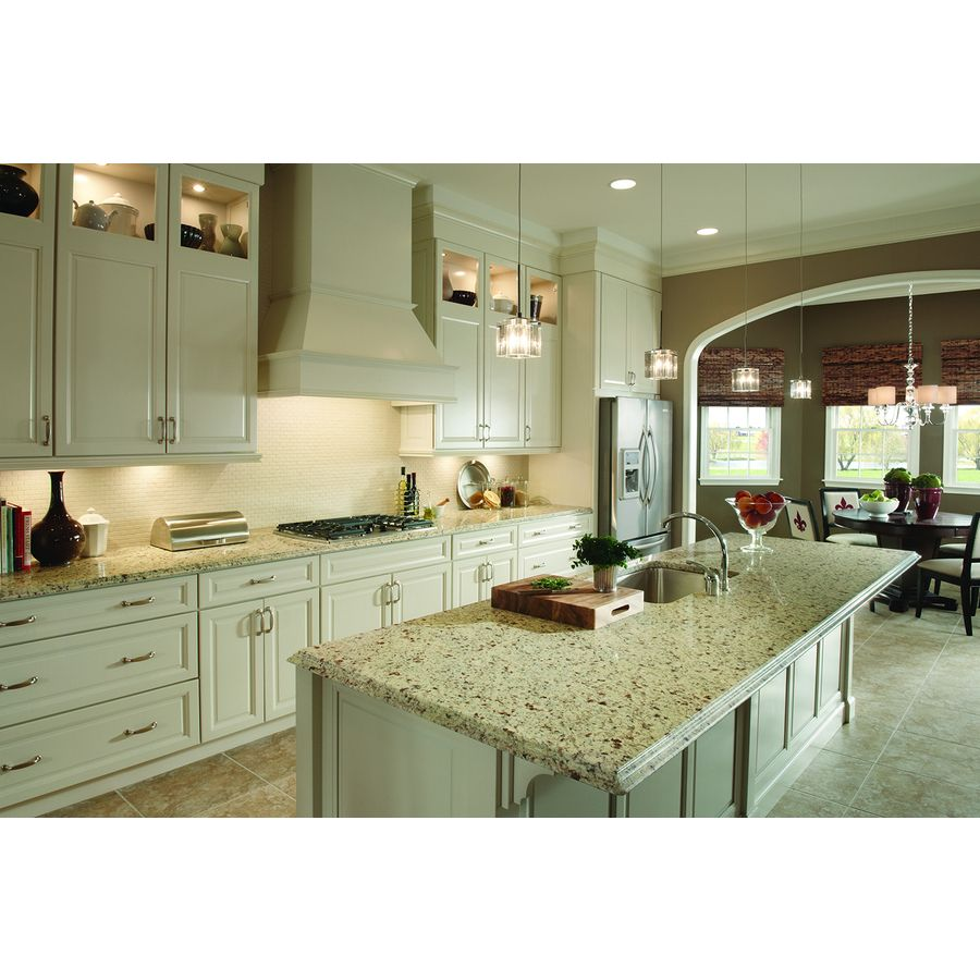 Shop Sensa Crema Pearl Granite Kitchen Countertop Sample