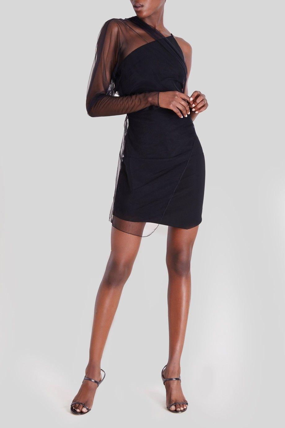 Cushnie Et Ochs Black Hedy Sheer Overlay Mini Dress What S New Little Black Dress Dresses Mini Dress [ 1380 x 920 Pixel ]