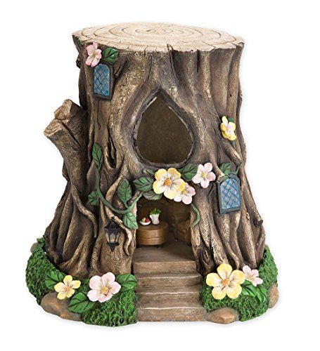 Miniature Fairy Garden Solar Teardrop Window House Stump  Garden Decorations Ideas that are Simple and Fun  Gardens can be styled after Victorian items like busts, fountains, or intricately designed arches. In addition garden decorations ideas can include garden gazing balls, brass figurines, and hanging plants. Finally, color can be used as a theme in the garden. For example people often choose roses, tulips, or lilies as a flower theme for their garden.  compliment the home and surroundi