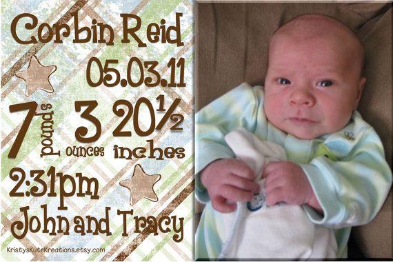 Cute birth announcement Munchkins Pinterest Birth and Babies