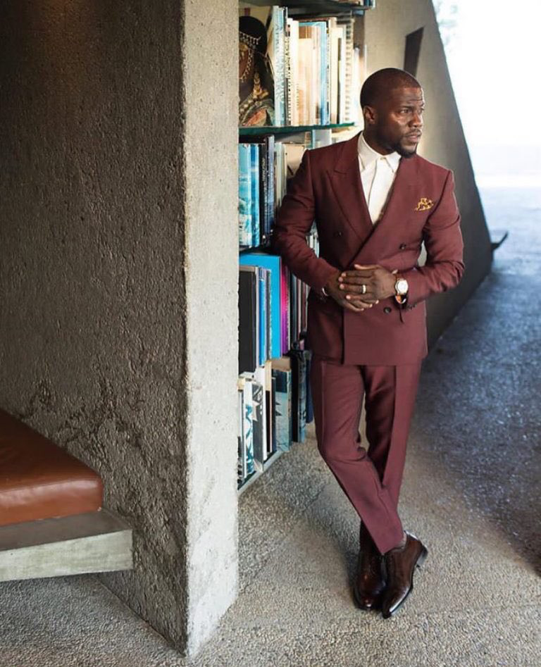 b9852ebeee9e KevinHart4real styles in a @Gucci suit and @Dior Homme shoes  upscalehype.com/2017/08/kevin-…