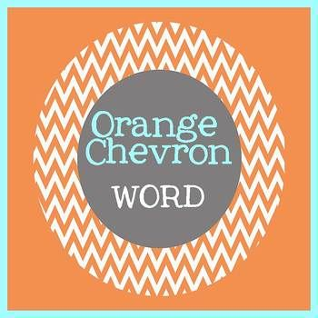 CHEVRON ORANGE theme - Newsletter Template WORD - newsletter template in word