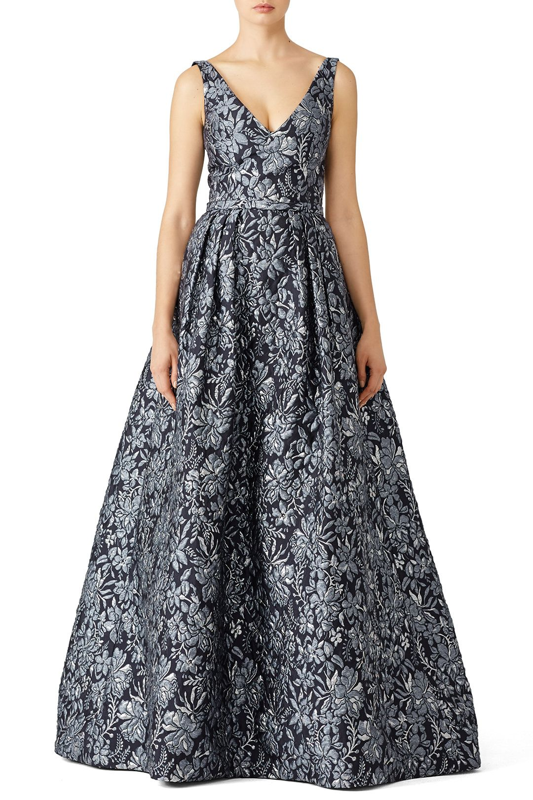 Floral Slate Ballgown | Fashion | Pinterest | Slate, Floral and ...