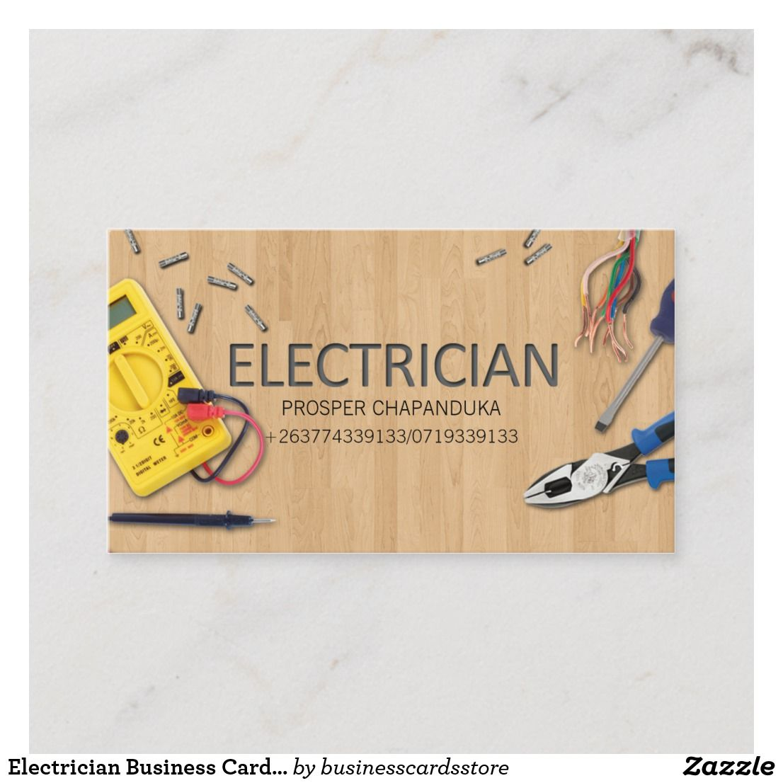 Create Your Own Business Card Zazzle Com In 2021 Electrical Tools Business Cards Electrician