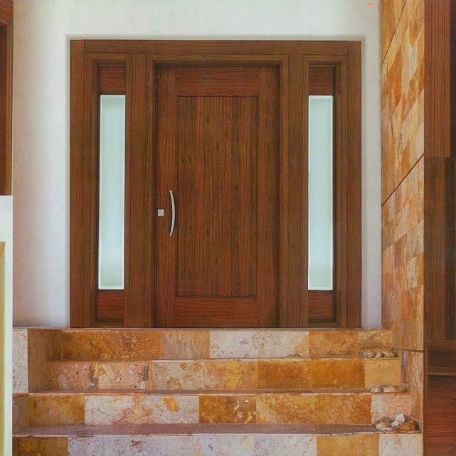 Puertas entrada principal en aluminio color madera - Colores de puertas de madera ...