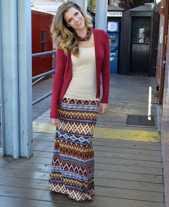Multi-Colored Tribal Print Maxi : Cute Aprons – Cute Dresses ...