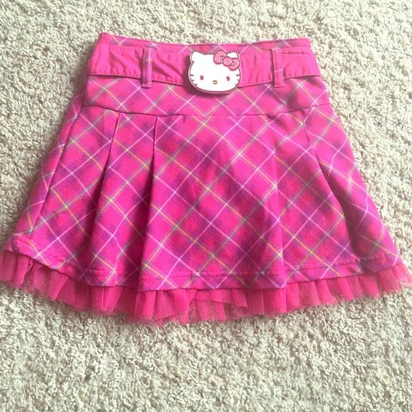Hello kitty ! Girls hello kitty plaid skirt! Great condition Hello Kitty Skirts