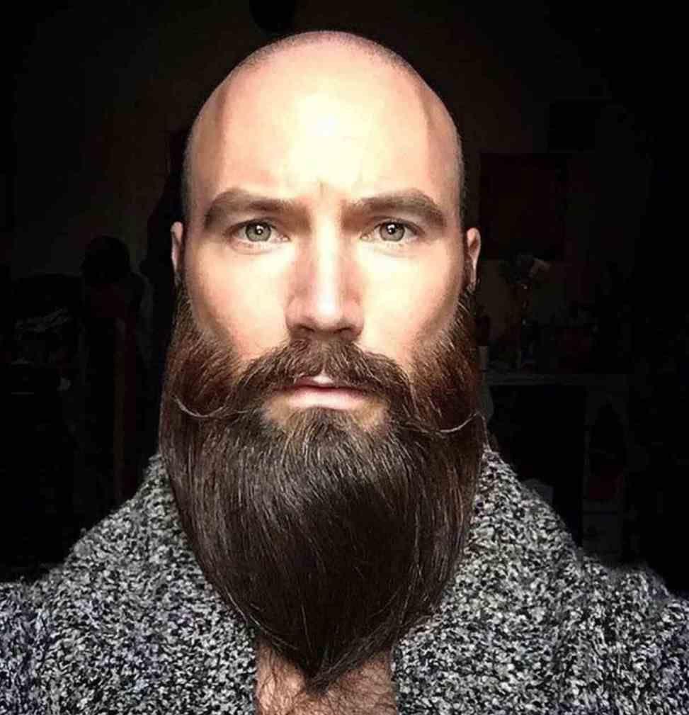 Bart mann glatze Durch Glatze