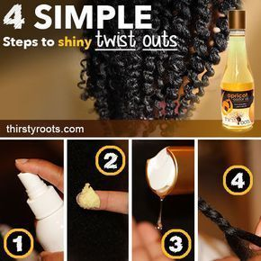 4 Simple Steps To Shiny Twist Outs - If you have been struggling to get the perf...