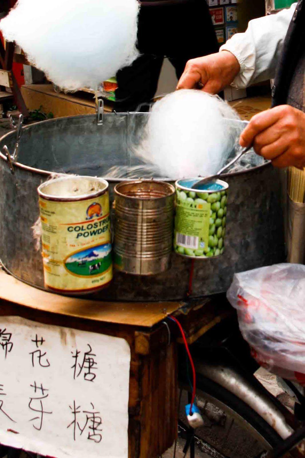Shanghai Street Food #19 Cotton Candy: Miánhuā Táng 棉 花 糖