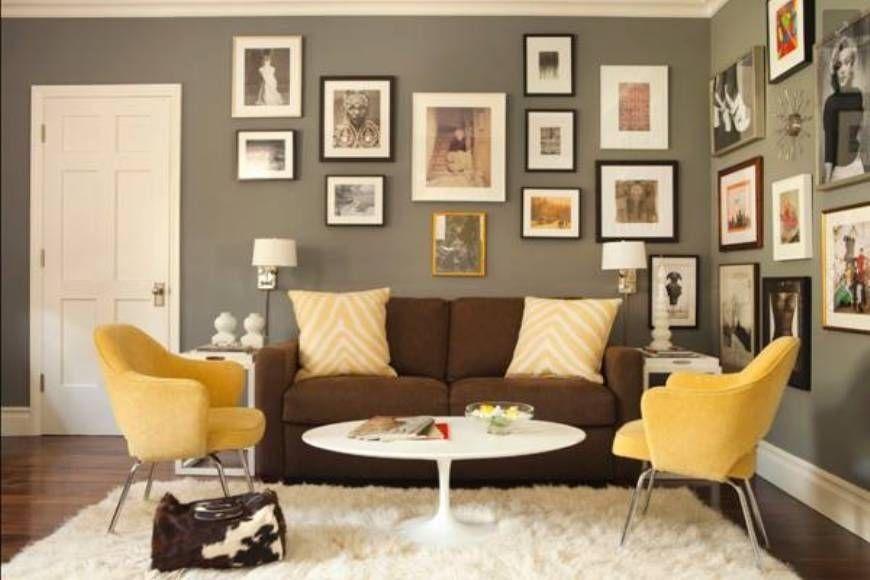 Graue blaue und braune Wohnzimmer-Design Neue Dekoration ideen - Wohnzimmer Grau Orange