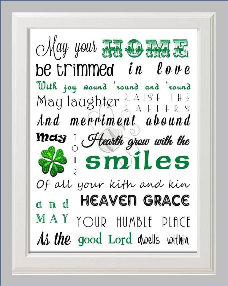 Irish House Blessing Poem Print Art By KayBee Studios On Etsy 1500 Via