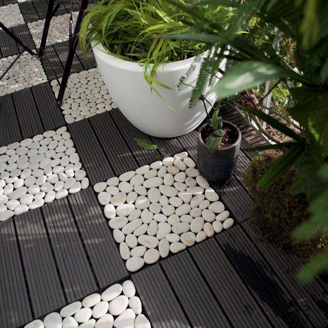 Sol En Caillebotis Toutes Nos Inspirations Dalle Jardin Caillebotis Decoration Petit Balcon