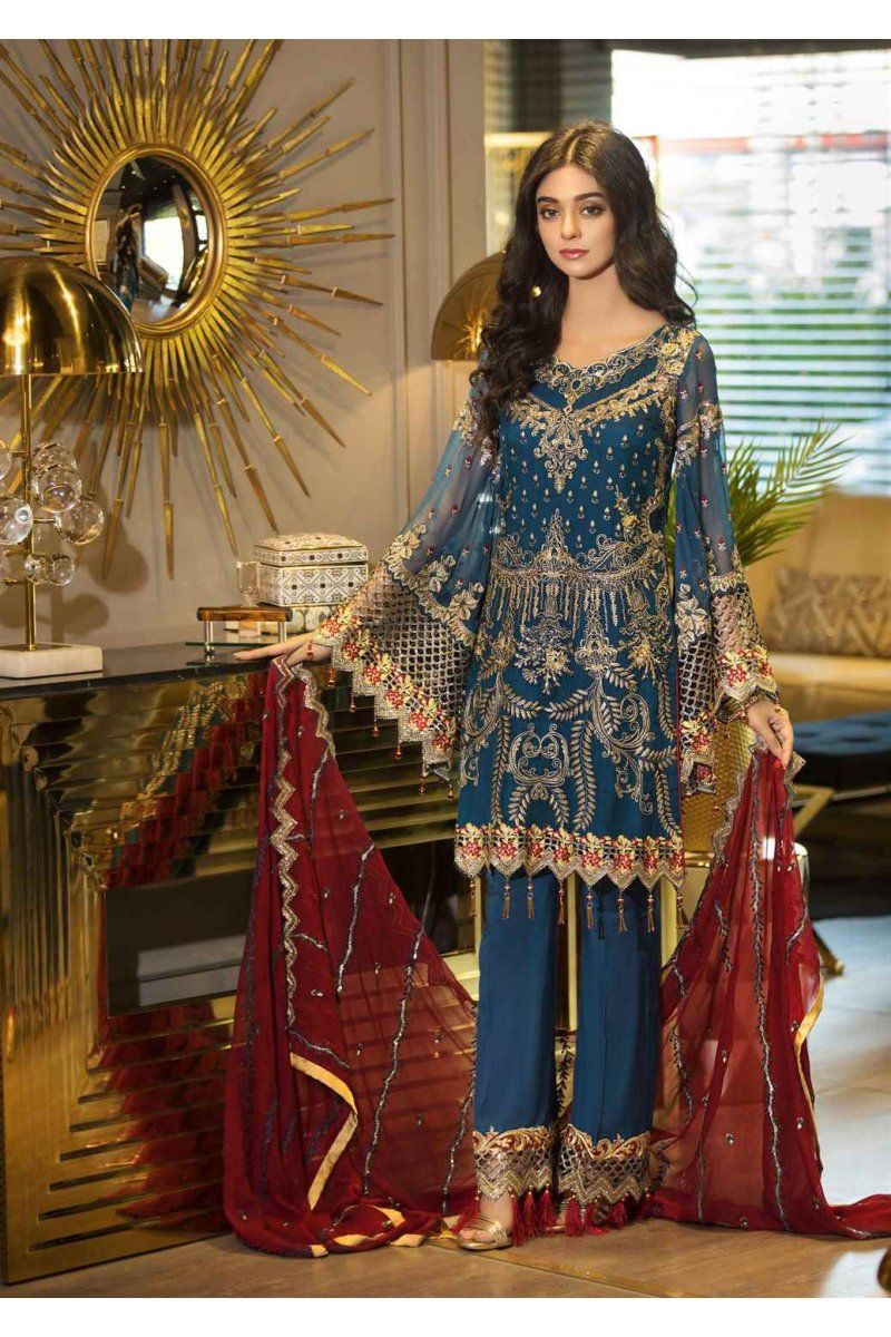 89d4eb6890 Designer Pakistani Salwar Suits Maryam's Premium Vol-2 Festival Chiffon  Collection MP-116