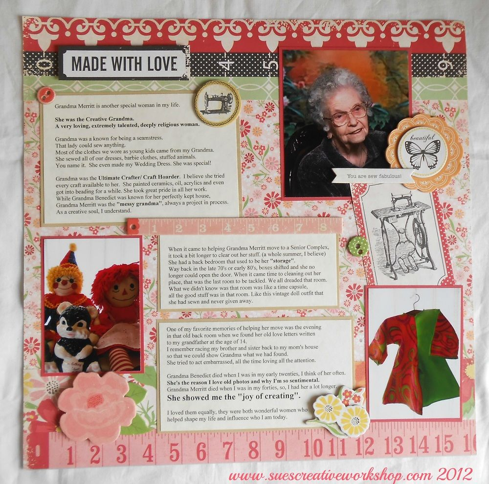 Remembering The Special Women In My Life Made With Love Scrapbook