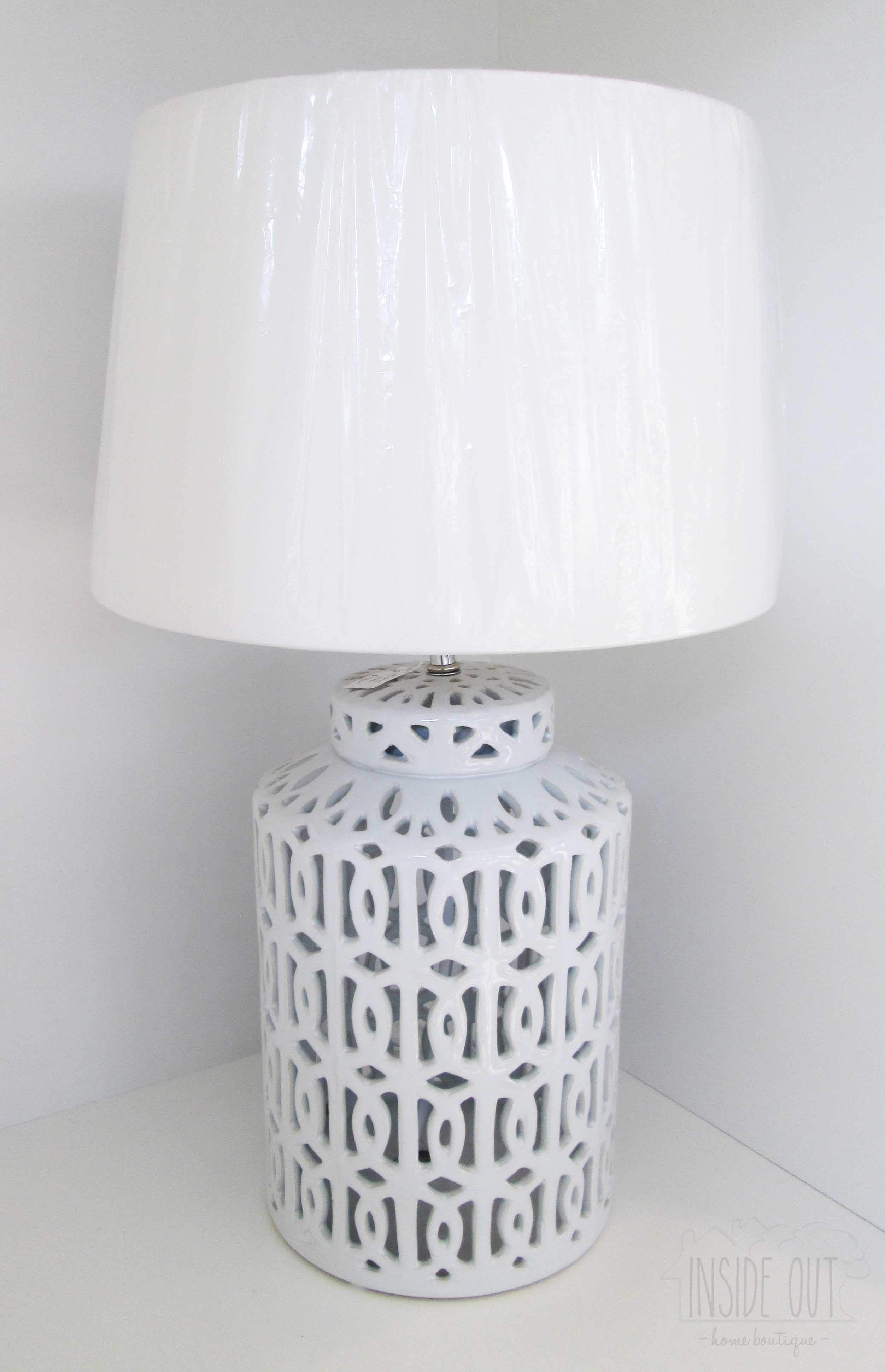 Available in Store - White Ceramic Lamp Base - Inside Out Home Boutique