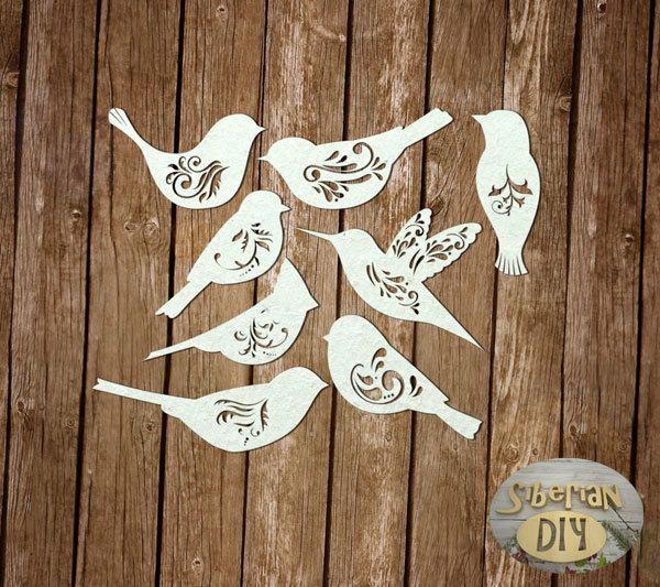 "Laser Cut Chipboard ""Set of ""Winged patterns"" by SiberianDIYcraftsArt on Etsy"