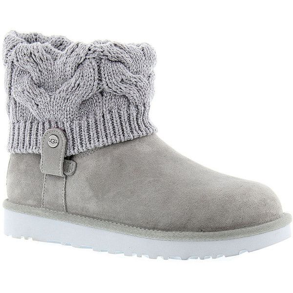 ugg saela s grey boot 170 liked on polyvore featuring