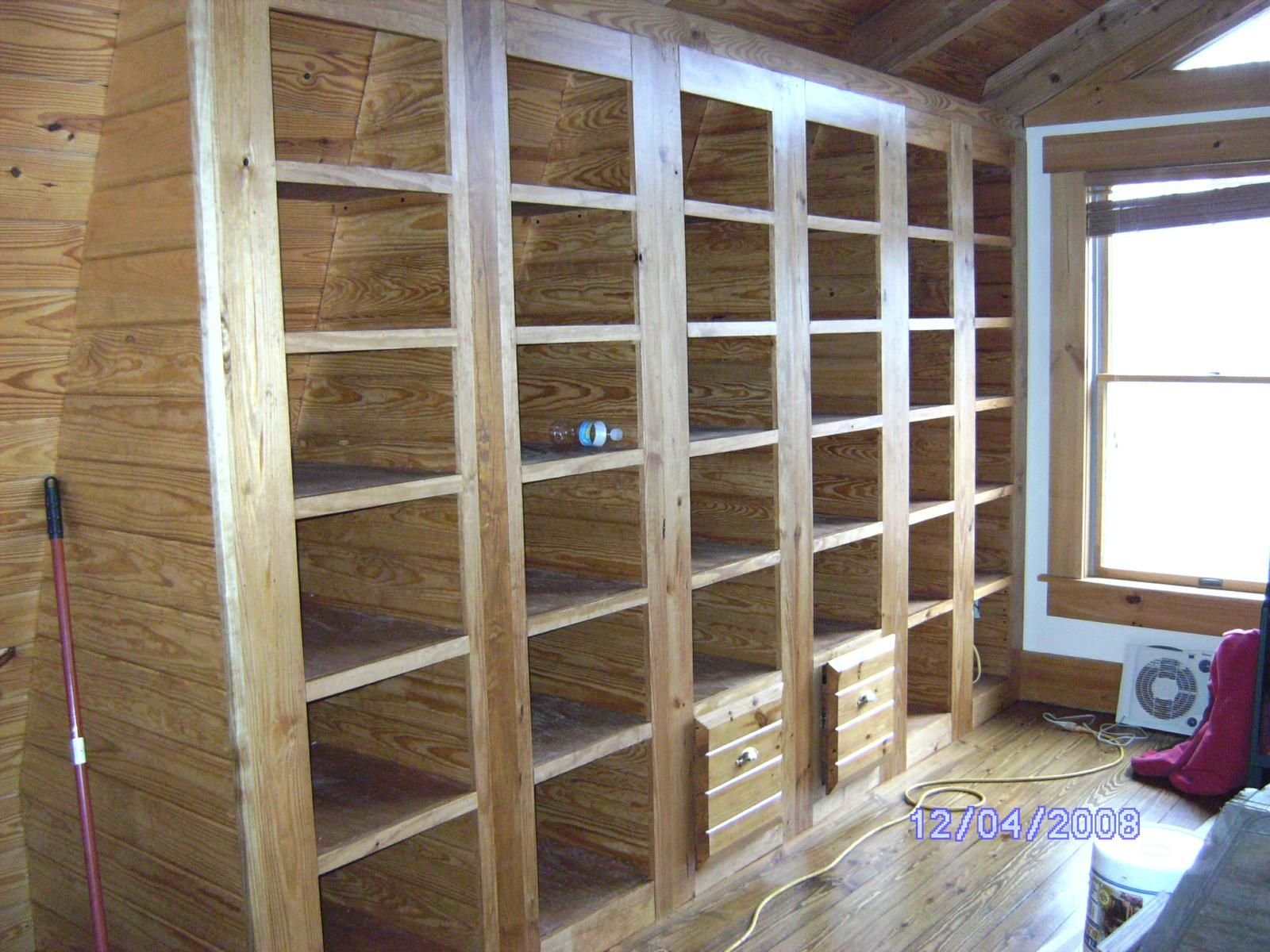 Built-In Bookcases with Two File Cabinets