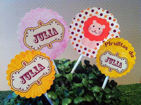 Tags para cupcake Festa Circo | Design Festeiro