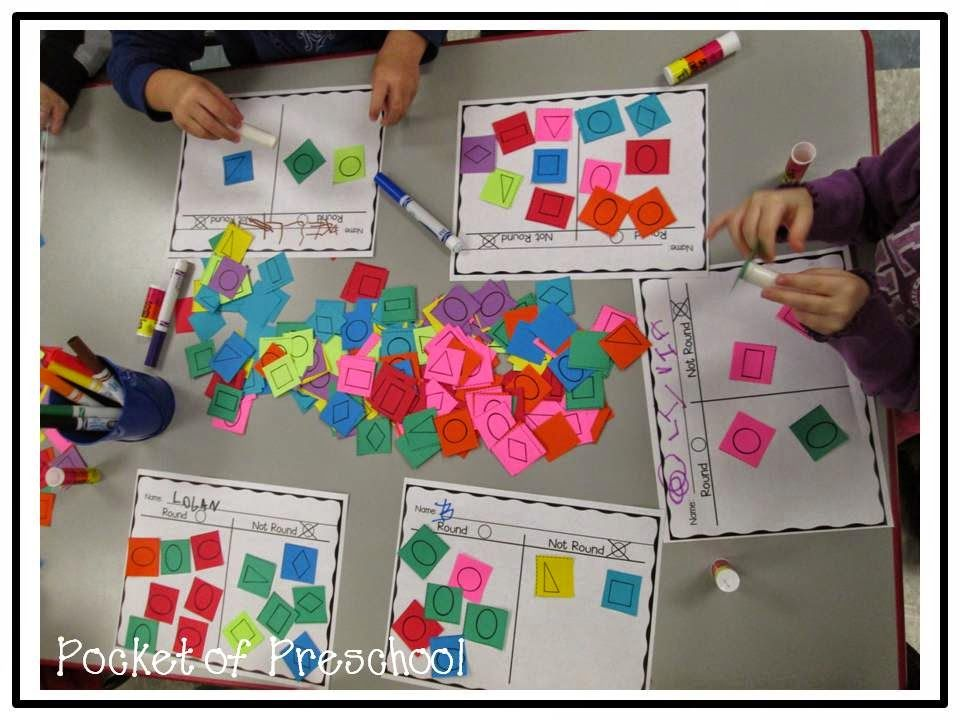 Sorting Paper Shapes Round Or Not Is A Fun Small Group Activity Pocket