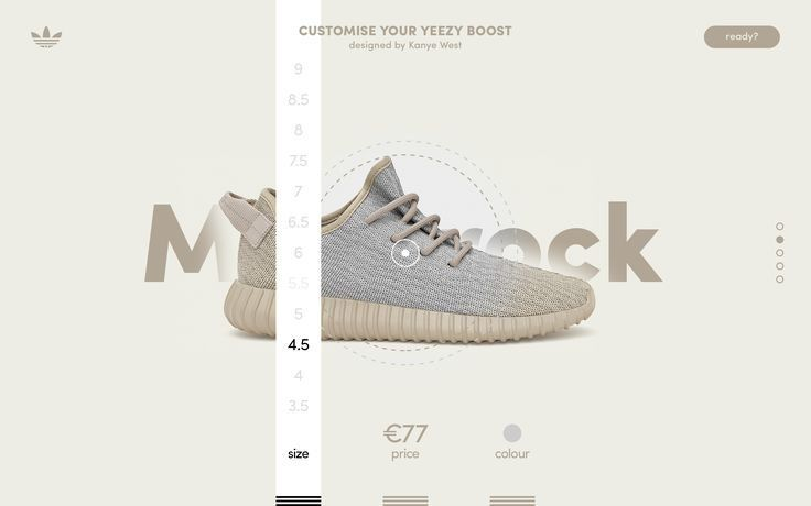 best service 2d9d1 1ac99 ... web designs! Adidas – Customise your Yeezy Boost by Damian Chmiel, via  From up North