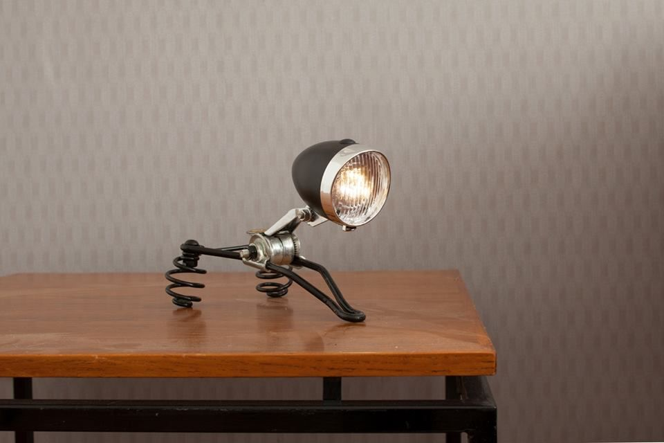 Upcycled Bicycle Lamp Fiets Kunst Oude Fiets Fietswiel