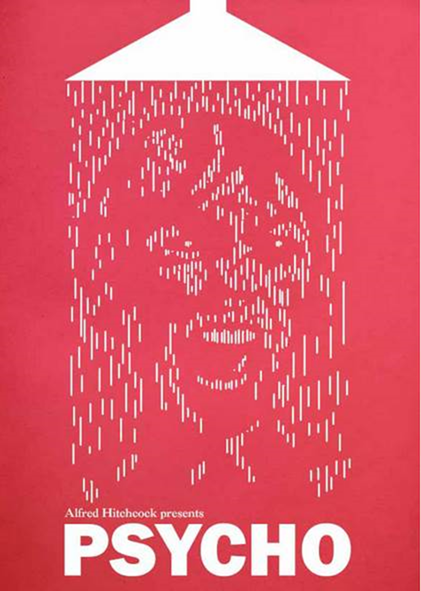 Alternative Posters for the 10 Scariest Movies of All Time -- Psycho by Ian Coupland