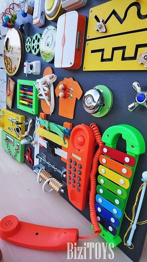 Sensory Board Busy Board Montessori Spielzeug Holzspielzeug Latch Board pädagogisches Kleinki Sensory Board Busy Board Montessori Spielzeug Holzspielzeug Latch Board...