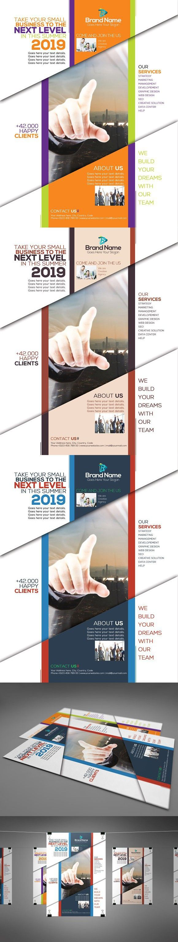 Corporate Flyer 3 Colors Edition | Corporate flyer, Color ...