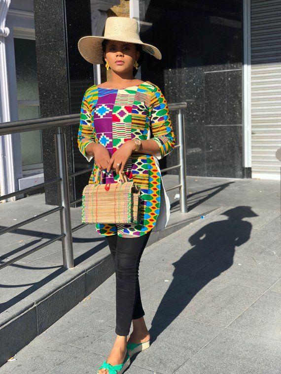 Rosemary African Print Ankara and crepe 2 way top/ tunic